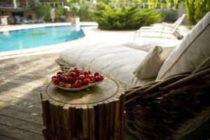 sunbeds swimming pool